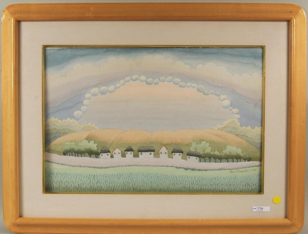 """Ivan Rabuzin """"Dawn"""" Watercolor"""