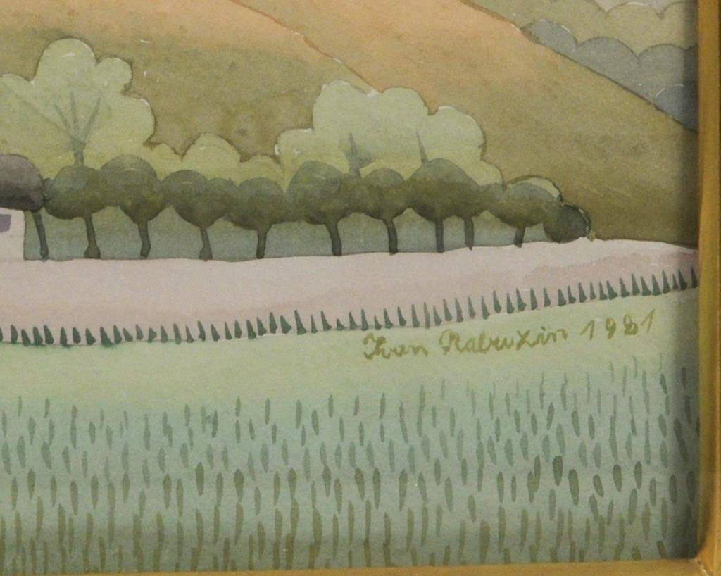 """Ivan Rabuzin """"Dawn"""" Watercolor - 2"""