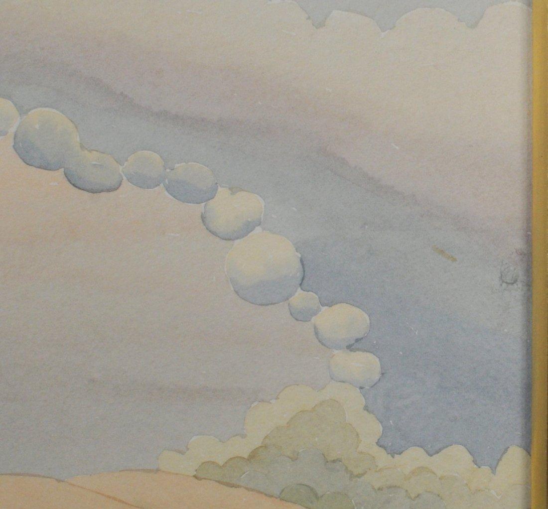 """Ivan Rabuzin """"Dawn"""" Watercolor - 4"""