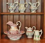 Group 6 English Transferware & Other Pitchers