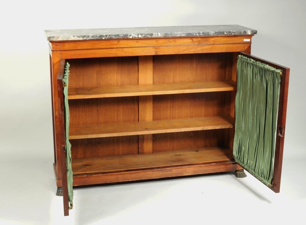 Regency Style Marble Top Side Cabinet - 2