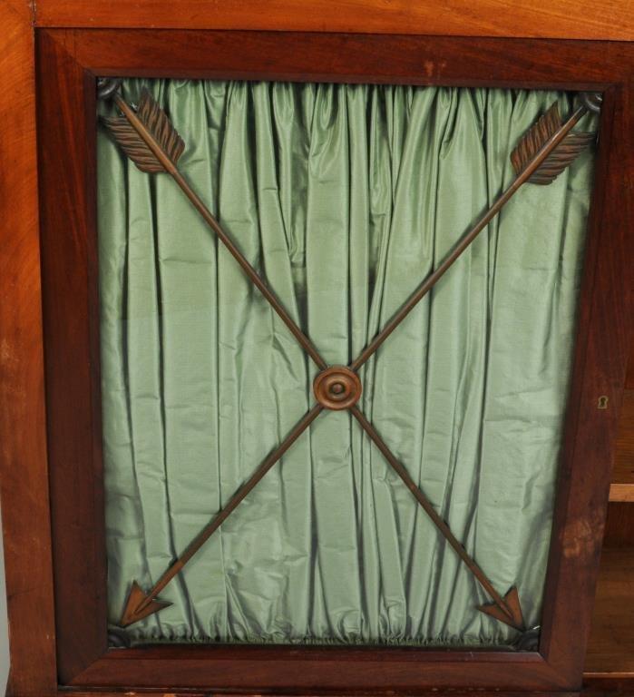 Regency Style Marble Top Side Cabinet - 4