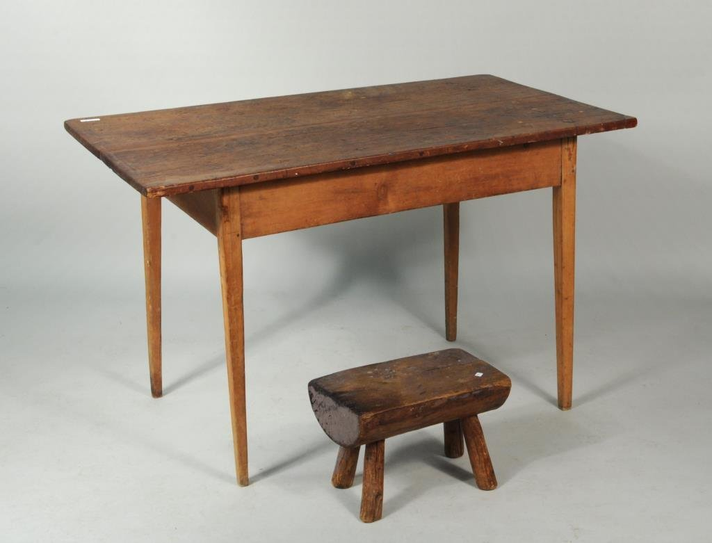 Rectangular Top Tavern Table, Late 18th Century
