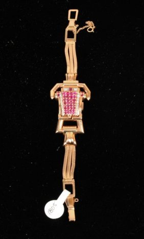Ladies Lucien Piccard 14K Rose Gold Watch