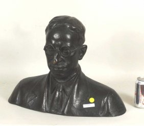 "Angiolo Vannetti, ""Bust Of Gentleman"" Sculpture"