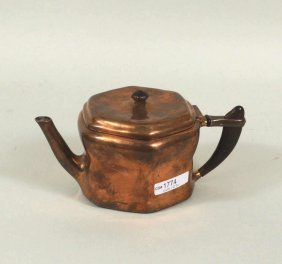 Tiffany Studio Arts & Crafts Copper Plated Teapot