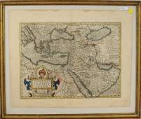Early Hand Colored Map of the Ottoman Empire