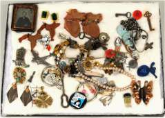Group Estate Cased Jewelry  Small Items