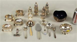 Group Small Sterling Silver Dining Articles