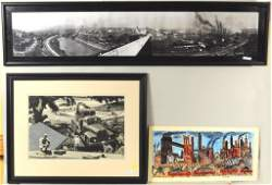 Three Industrial Themed Artworks