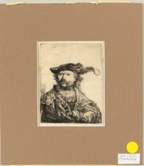 Rembrandt Harmensz Van Rijn, Self Portrait Etching