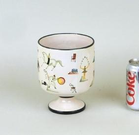 Italian Ceramic Circus Vase, Poss. Gio Ponti