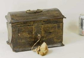 Flemish Gilt Tooled Leather Casket