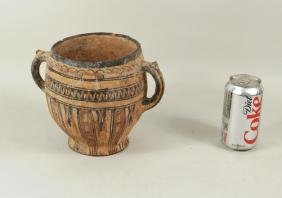 Early Poss Cypro (Cyprus) Handled Pottery Vessel