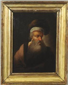 Dutch School Portrait Of An Elderly Man O/P