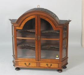 Dutch Baroque Arch Top Hanging Cabinet