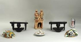 Six Mexican & Spanish Pottery Items
