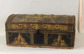 Louis XIV Style Leather Covered Cassone