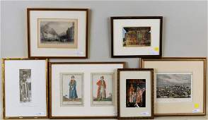 Group Six Framed Prints Romanian Interest