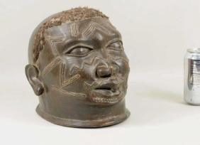 African Makonde Carved Wood Helmet Mask