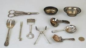 Group Small Sterling & Silver Plate Items