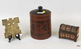 Group Russian Items, Icon, P/M Storage Jar