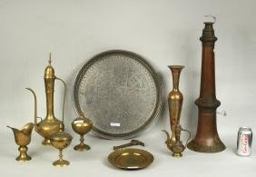 Group Brass, Copper & Metal Indian & Tibetan Items