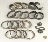Group 18 Chinese Miao Culture Silver Bracelets