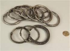 Group 12 Chinese Miao Culture Silver Bangles