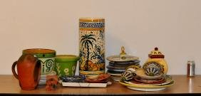 Group Mostly Talavera Pottery Items