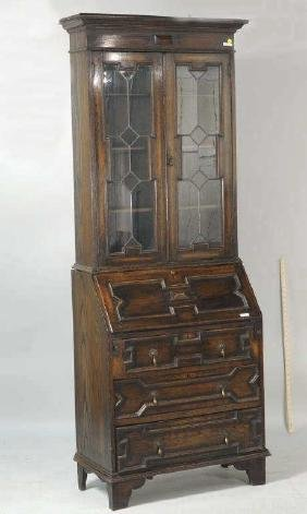 Charles II Style Bureau Bookcase