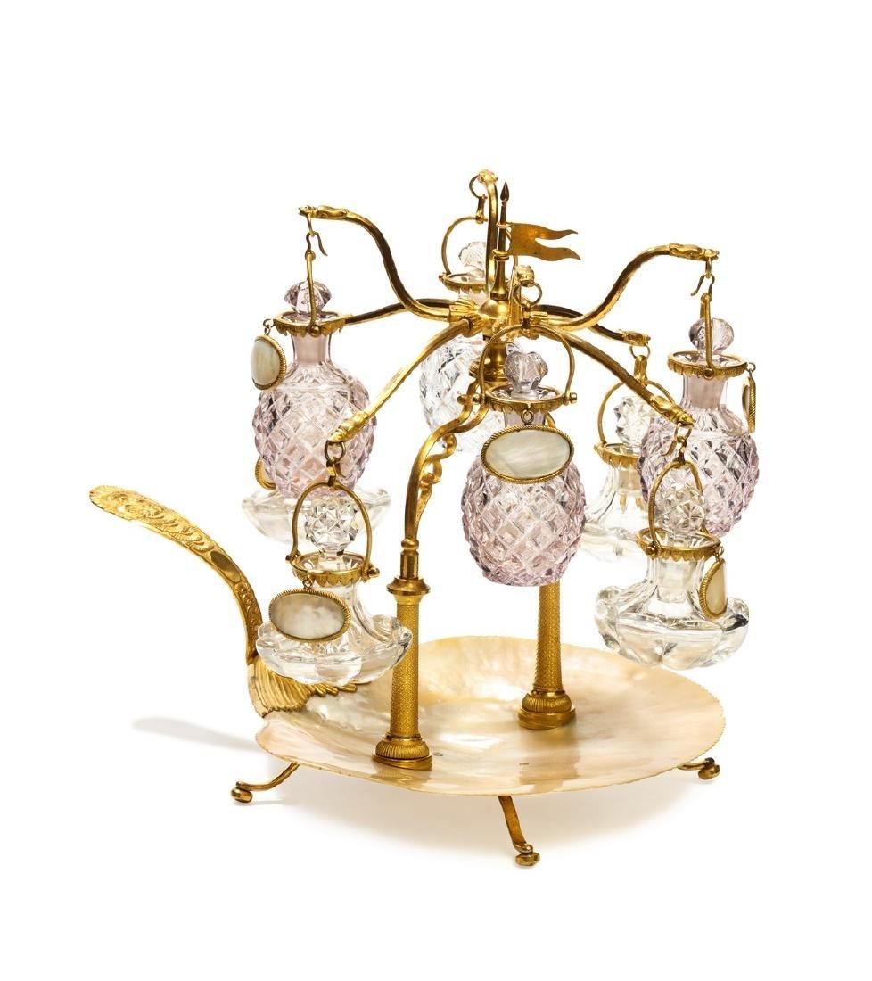 1820s Charles X Baccarat perfume carousel