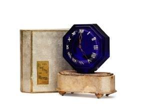 1920's De Marcy Le Heure est Venue, cobalt bottle