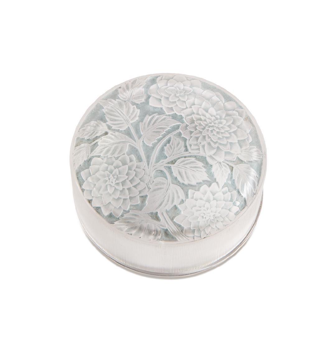 "1924 R. Lalique  ""Meudon"" powder box"