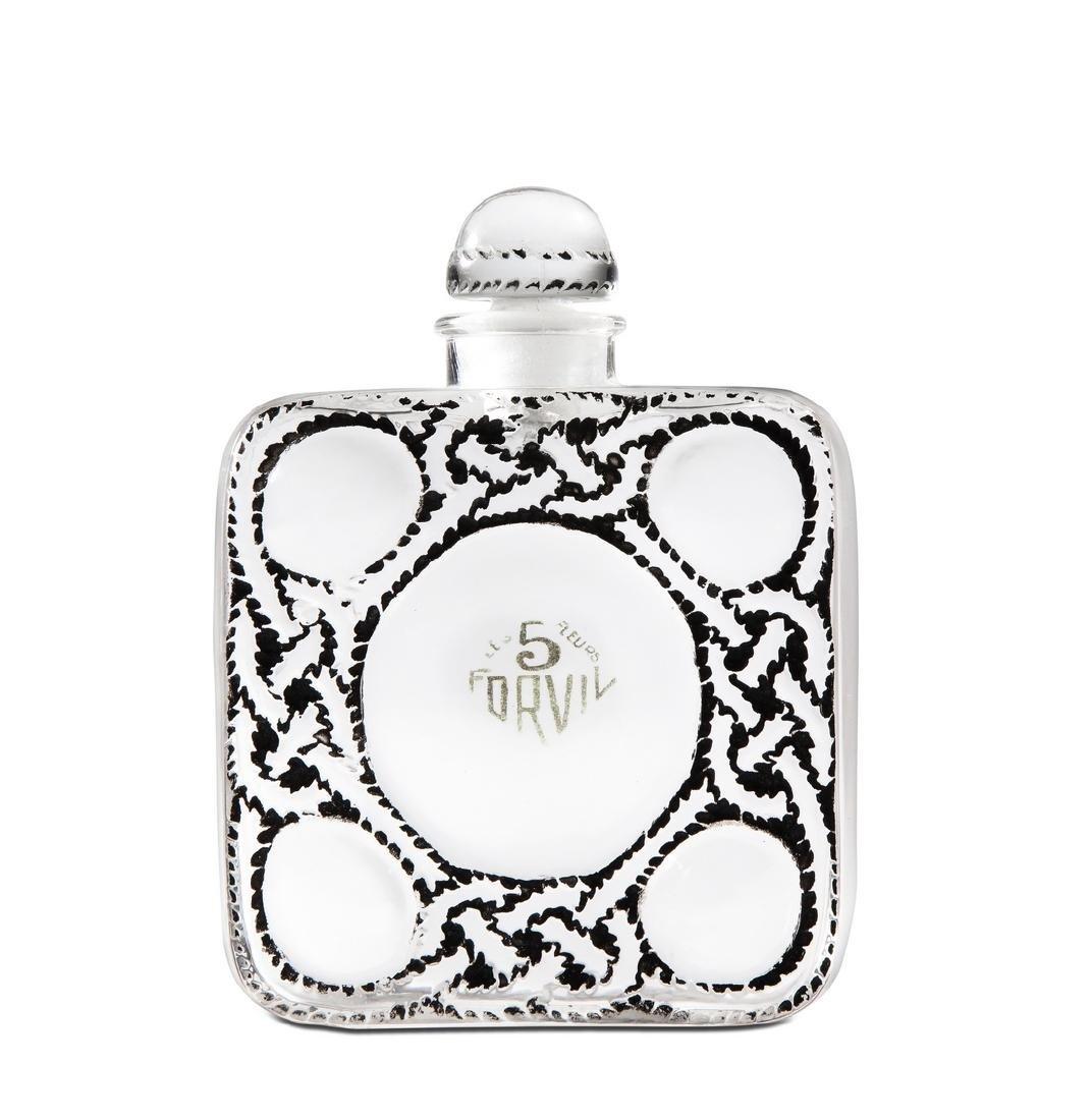 1928 R. Lalique  Les 5 Fleurs  perfume bottle