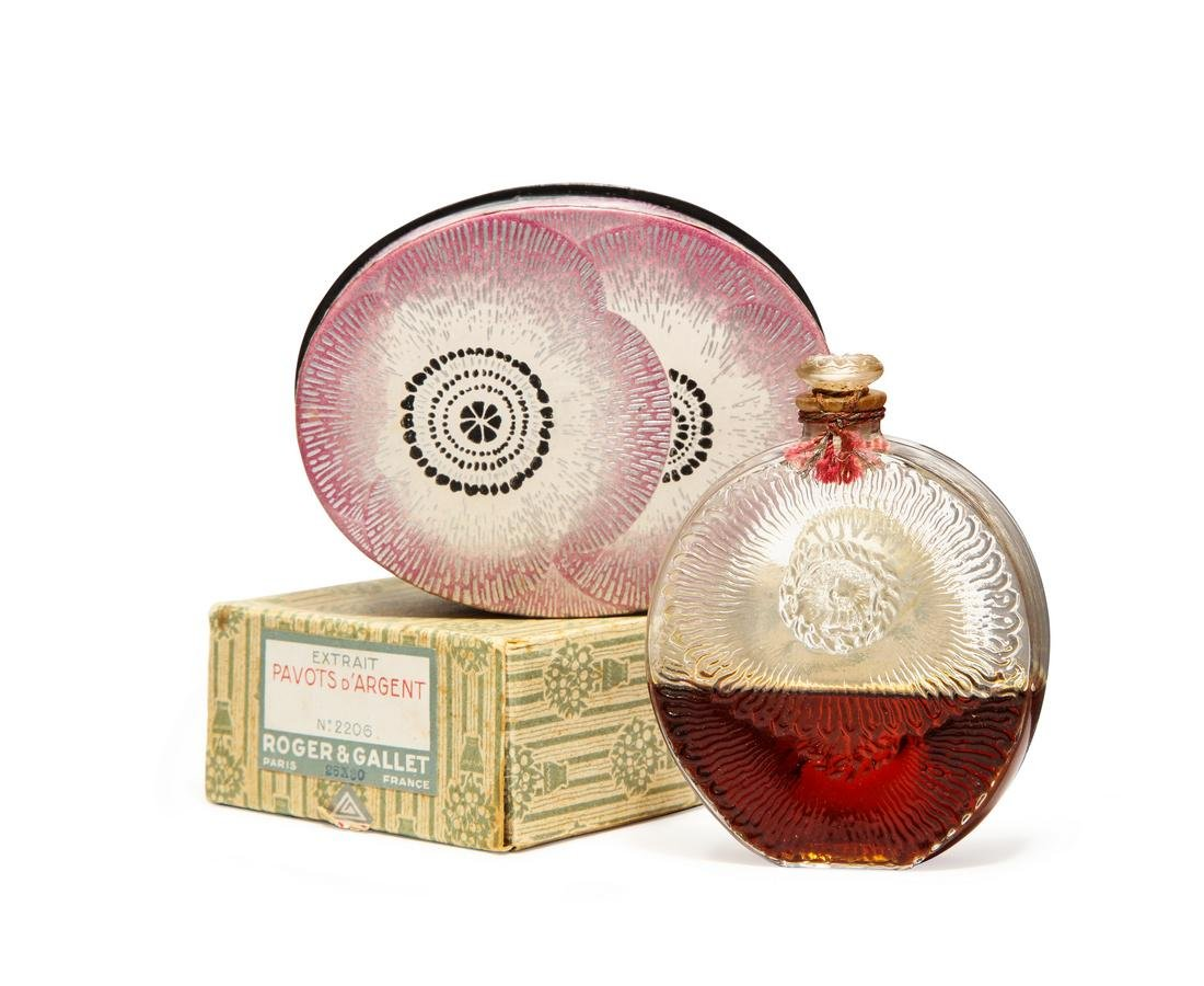 1927 R. Lalique  Pavots d'Argent   perfume bottle