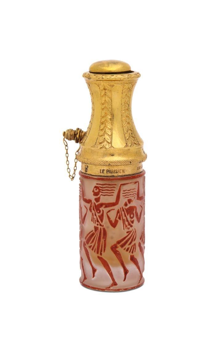 """1926 R. Lalique """"Danseuse Egyptiennes"""" atomizer"""