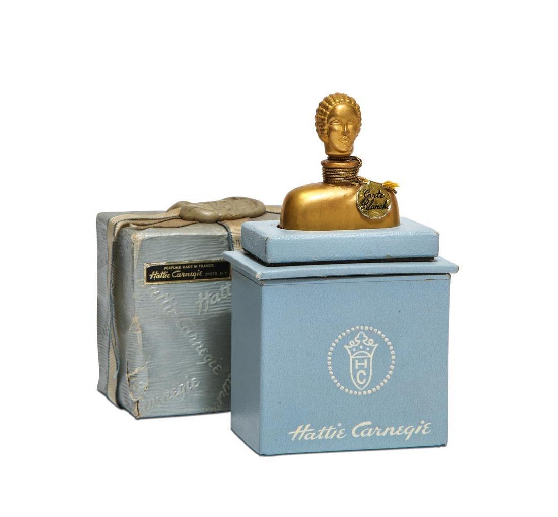 1940s Hattie Carnegie  Carte Blanche  perfume bottle
