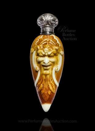 1885 Stevens & Williams dolce relievo cameo Glass scent