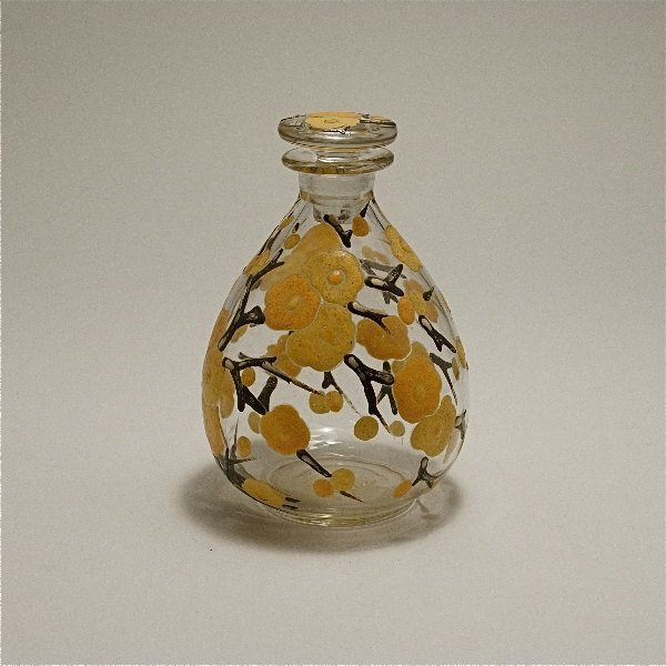 5: Delvaux 1920s Art Glass Perfume Bottle