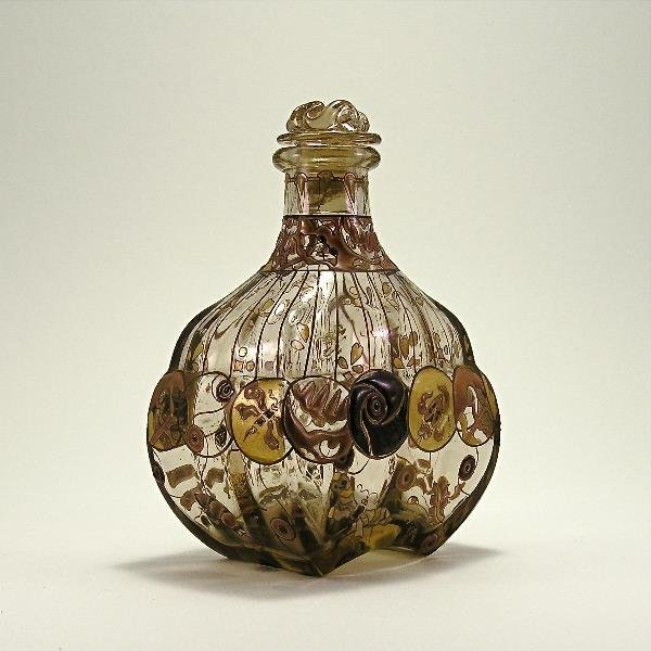 6: 1880s Emile Galle Art Nouveau Perfume Bottle