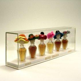 1950s Rose Valois Mini Perfume Bottles