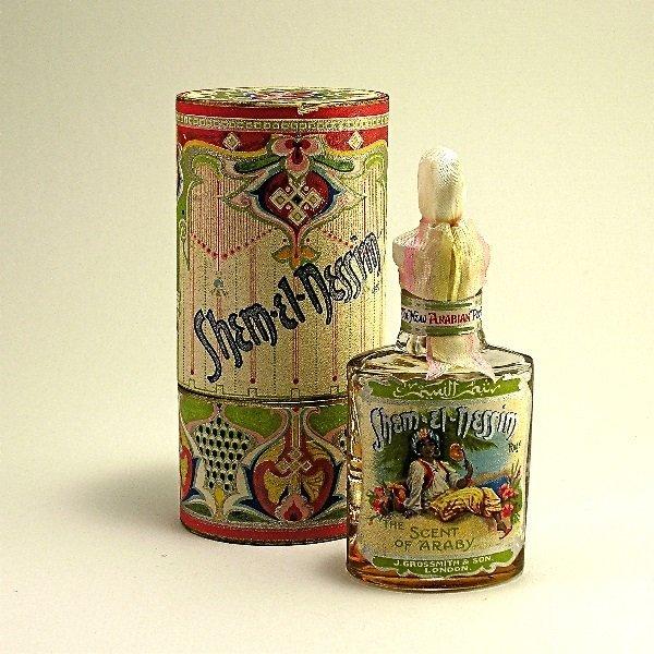 147: 1907 Grossmith Shem-El-Nessim Perfume Bottle