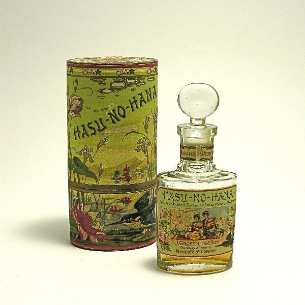 149: 1890 Grossmith Hasu-No-Hana Perfume Bottle