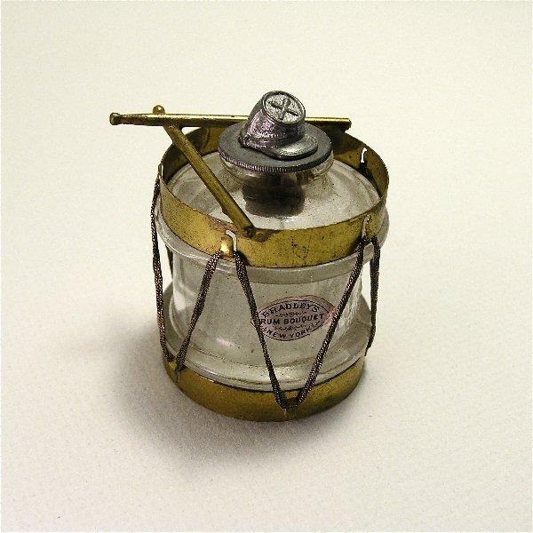 154: 1900s Bradleys Drum Bouquet Perfume Bottle