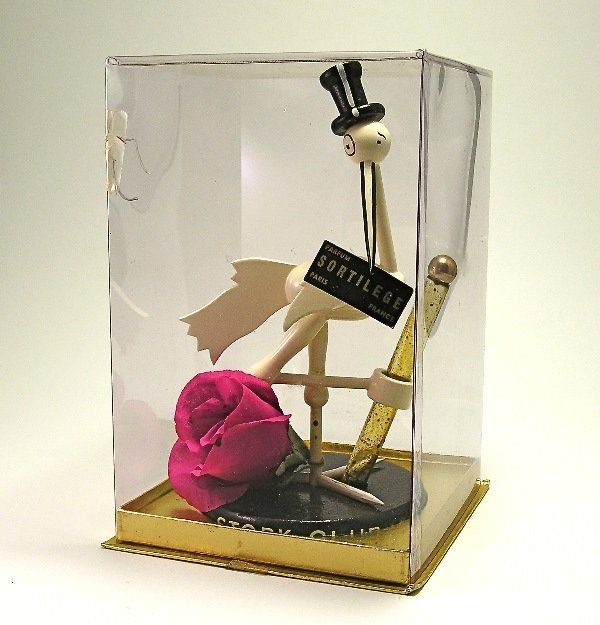 272: 1940s Stork Club Sortilege Glass Perfume Bottle