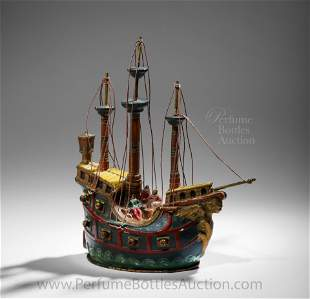 Rare Terre de Retz powder box as a Pirate Ship