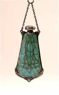 30: 1910s Art Nouveau Plique a Jure Perfume Bottle