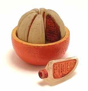 115: 1925 De Marcy Novelty Orange Perfume Bottle Set