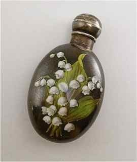 4: 1888 London Silver Enamel Scent Bottle